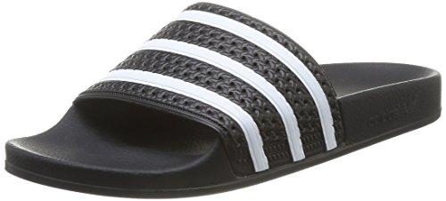 adidas Herren Adilette Hausschuhe, Schwarz (Black/White 280647), 44 2/3 EU (10 UK)