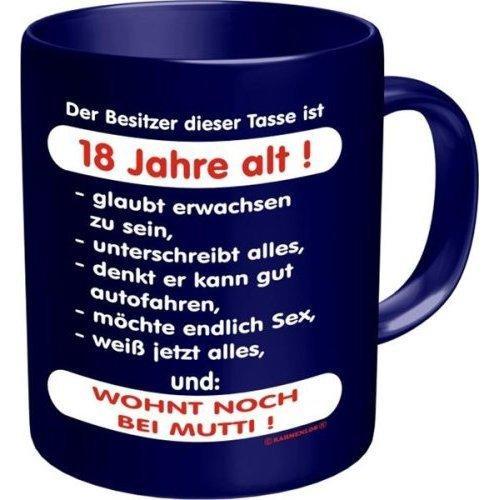 Rahmenlos 914729 Funtasse Fun Spaßtasse mit Aufdruck - Besitzer 18 Jahre