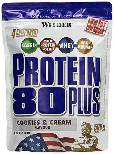 Weider, 80 Plus Protein, Cookies & Cream, 1er Pack (1x 500g)