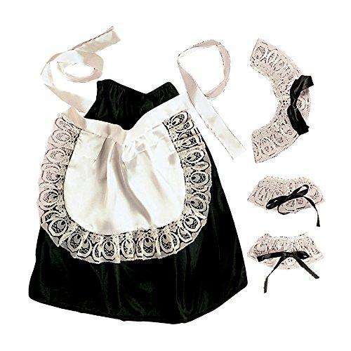 WIDMANN 6665C - Kostümset Hausmädchen, Kopf-, Hals- und Handgelenkschmuck, Rock und Schürze, Einheitsgröße
