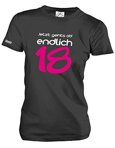 Jayess JETZT GEHTS AB ENDLICH 18 - PINK - GEBURTSTAG - Damen T-Shirt by Schwarz Gr. M