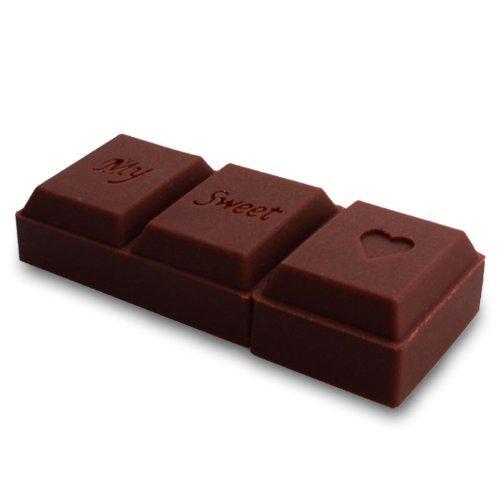 Prime No11800070008 Hi-Speed 2.0 USB-Sticks 8GB 3D Schokolade braun