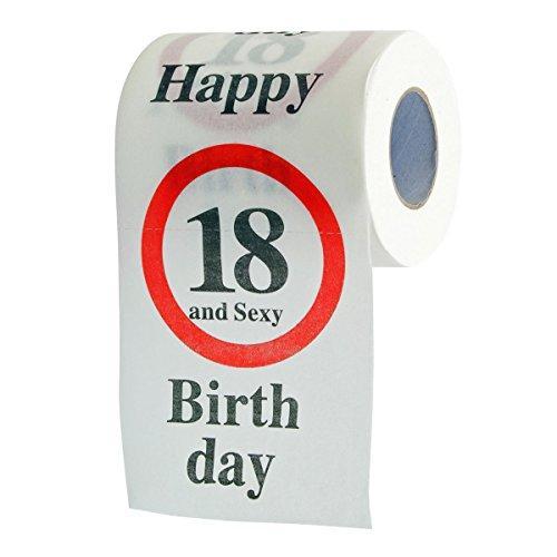Lustiges Fun Klopapier zur Volljährigkeit 18. Geburtstag Toilettenpapier Geschenkartikel Geburtstags-Dekoration