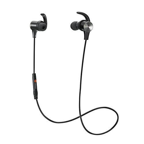 TaoTronics Bluetooth Kopfhörer 4.1 In Ear Kopfhörer magnetische Headset AptX IPX6 Wasserschutz Stereo mit Mikrofon für iPhone 6 6S Plus 7S 7 SE Galaxy S7 S8 Edge S5 S4 Minikompatibel mit iOS Android Geräten
