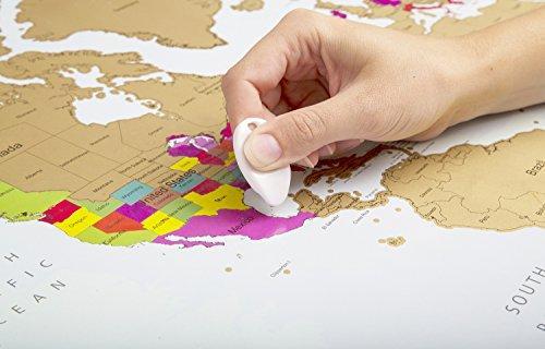 Rubbel Weltkarte | Weltkarte pinnwand | | Weltkarte XXL zum rubbeln poster 90 x 60 cm